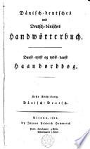 Dansk tydsk og tydsk dansk Haandordbog