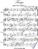 Tango Opus 165 Number 2 Easy Piano Sheet Music