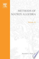 Methods of Matrix Algebra