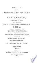 Narrative of the Voyages and Services of the Nemesis  from 1840 to 1843 Book PDF
