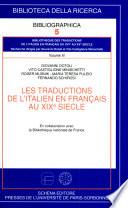 Les traductions de l italien en fran  ais au XIXe si  cle