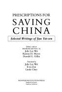 Prescriptions for saving China