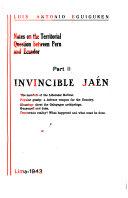 download ebook notes on the territorial question between peru and ecuador: invincible jaén pdf epub