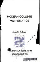 Modern college mathematics