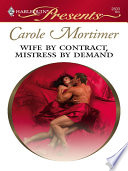 Wife By Contract  Mistress By Demand