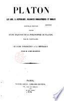 Les lois, la République, dialogues biographiques et moraux...