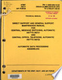 Direct Support and General Support Maintenance Manual for Central  Message Switching  Automatic  AN TYC 39 V 1 and Central Office  Telephone  Automatic  AN TTC 39 V 2  Automatic Data Processing Assemblies
