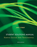 Student Solutions Manual For Essential Calculus