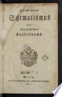 Hof- und Staats-Schematismus des österreichischen Kaiserthums. Wien 1807-1843