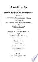 Encyklopädie des gesamten Erziehungs-und Unterrichtswesens