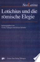 Lotichius und die römische Elegie
