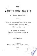 The Montreal Snow Shoe Club