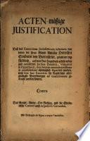 Actenmäßige Justification daß das exercitium Iurisdictionis inferioris von denen der Frau Stieberin von Buttenheim ... iuribus Dotalitii ... ohnmöglich separiret werden, noch sine hoc exercitio die Kayserliche ... Verordnungen ad executionem gebracht werden können
