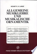 Allgemeine Musiklehre und musikalische Ornamentik