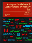 Acronyms, Initialisms and Abbreviations Dictionary