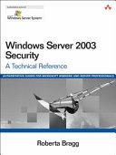 Windows Server 2003 Security