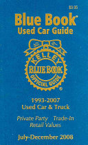 Kelley Blue Book Used Car Guide  July December 2008