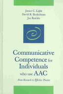 Communicative Competence for Individuals who Use AAC