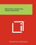 Winston Churchill Prime Minister