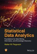 Statistical Data Analytics