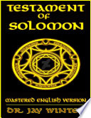 download ebook the testament of solomon: mastered english version pdf epub