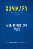 download ebook summary: making strategy work pdf epub