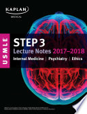 USMLE Step 3 Lecture Notes 2017 2018  Internal Medicine  Psychiatry  Ethics