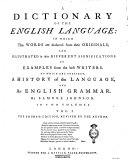 download ebook a dictionary of the english language: in wich the words are deduced from their originals, and illustrated in their different significations by examples from the best writers ... by samuel johnson. in two volumes. vol. 1. [-2.] pdf epub