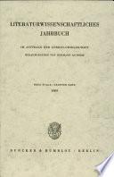 Literaturwissenschaftliches Jahrbuch