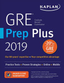 GRE Prep Plus 2019: Practice Tests + Proven Strategies + Online + Video + Mobile