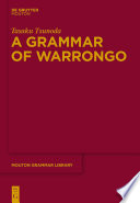 A Grammar Of Warrongo