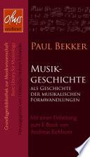 Musikgeschichte als Geschichte der musikalischen Formwandlungen