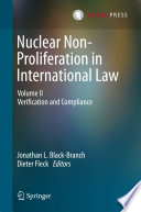 Nuclear Non Proliferation in International Law