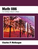 Math 086 for Santiago Canyon College