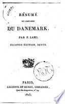 R  sum   de l histoire du Danemark  par P  Lami