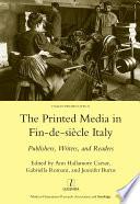 Printed Media in Fin de siecle Italy
