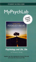 Psychology and Life MyPsychLab Standalone Access Code