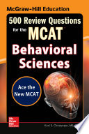McGraw Hill Education 500 Review Questions for the MCAT  Behavioral Sciences