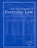 Gale Encyclopedia of Everyday Law: First amendment law to travel