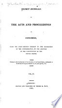 Secret Journals of the Acts and Proceedings of Congress  from the First Meeting Thereof to the Dissolution of the Confederation
