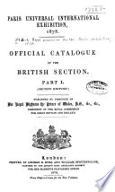 Official Catalogue of the British Section