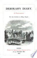 Deborah s Diary  A sequel to    Mary Powell     By Anne Manning