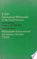Ibss  Anthropology  1972