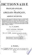 Dictionnaire anglais-franca̧is