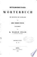 Mittelhochdeutsches W  rterbuch  bd  A L  1854