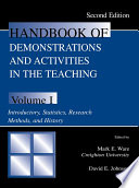 Handbook Of Demonstrations And Activities In The Teaching Of Psychology