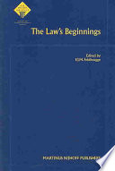 The Law s Beginnings