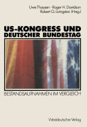 US-Kongreß und Deutscher Bundestag