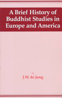 Brief History of Buddhist Studies in Europe and America