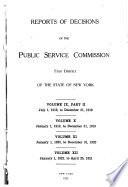 Reports of Decisions of the Public Service Commission  First District  of the State of New York